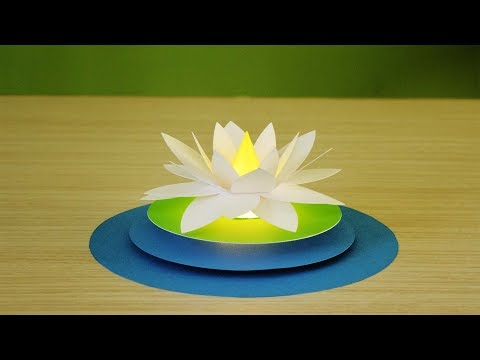Amazing ! make a beautiful flower night lamp using color paper