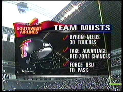 Texas Tech vs Oklahoma State pre-game 1996 (2 of 3)