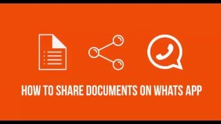 How to share documents on whatsapp?