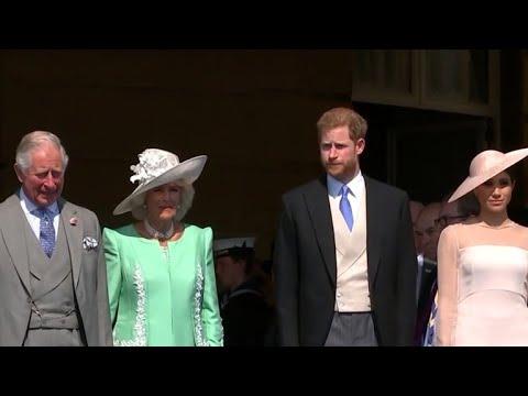 Newlyweds Prince Harry, Meghan make first public appearance since wedding