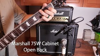Marshall MX112R Cab with Celestion Seventy-80 Speaker - Open vs Closed Back Test