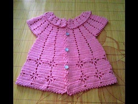[Crochet Sweater for baby] Hướng dẫn móc áo khoác cho bé - kiểu 1