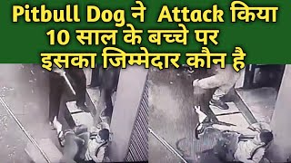 Pitbull Dog Attacked On School Boy !! Who Is Responsible For This Dog Or Owner