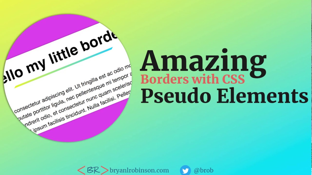 Top 3 uses for the ::before and ::after CSS pseudo elements