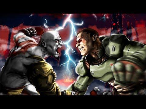 The Doom Slayer vs Kratos