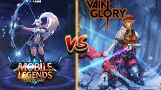 Mobile Legends VS Vain Glory side by side comparison