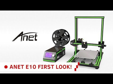 ANET E10 3D Printer Unboxing and First Print!