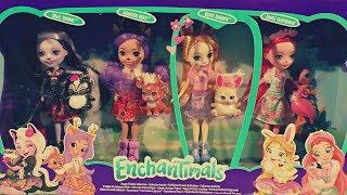 Обзор редкого набора Happy Friends Collection.Энчантималс. Обзор куклы кролика Блисс Банни и Отси.