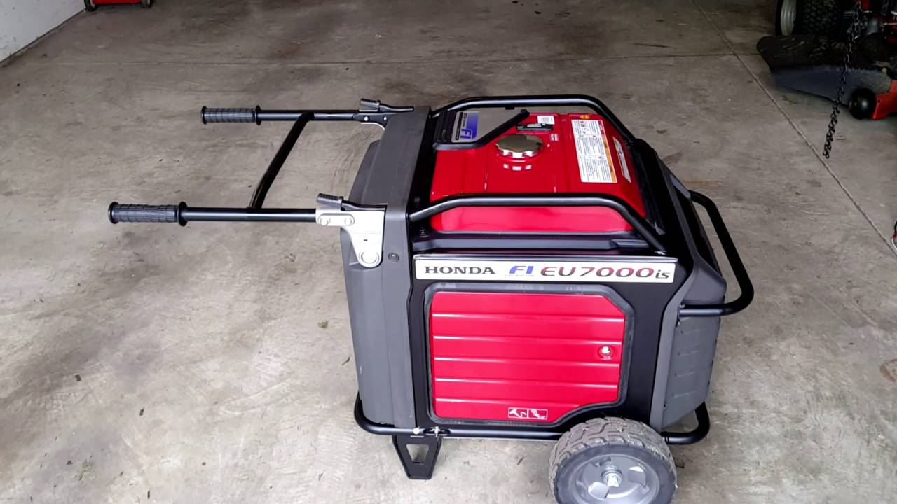 Honda EU7000IS Generator Pull Starting Without A Battery - YouTube