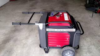 honda eu7000is generator pull starting without a battery