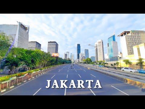 JAKARTA — Downtown Jakarta City Main Street 印尼街景—双层观光车视角看雅加达
