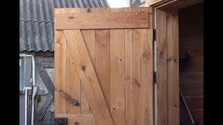 как сделать дверь из досок своими руками для бани