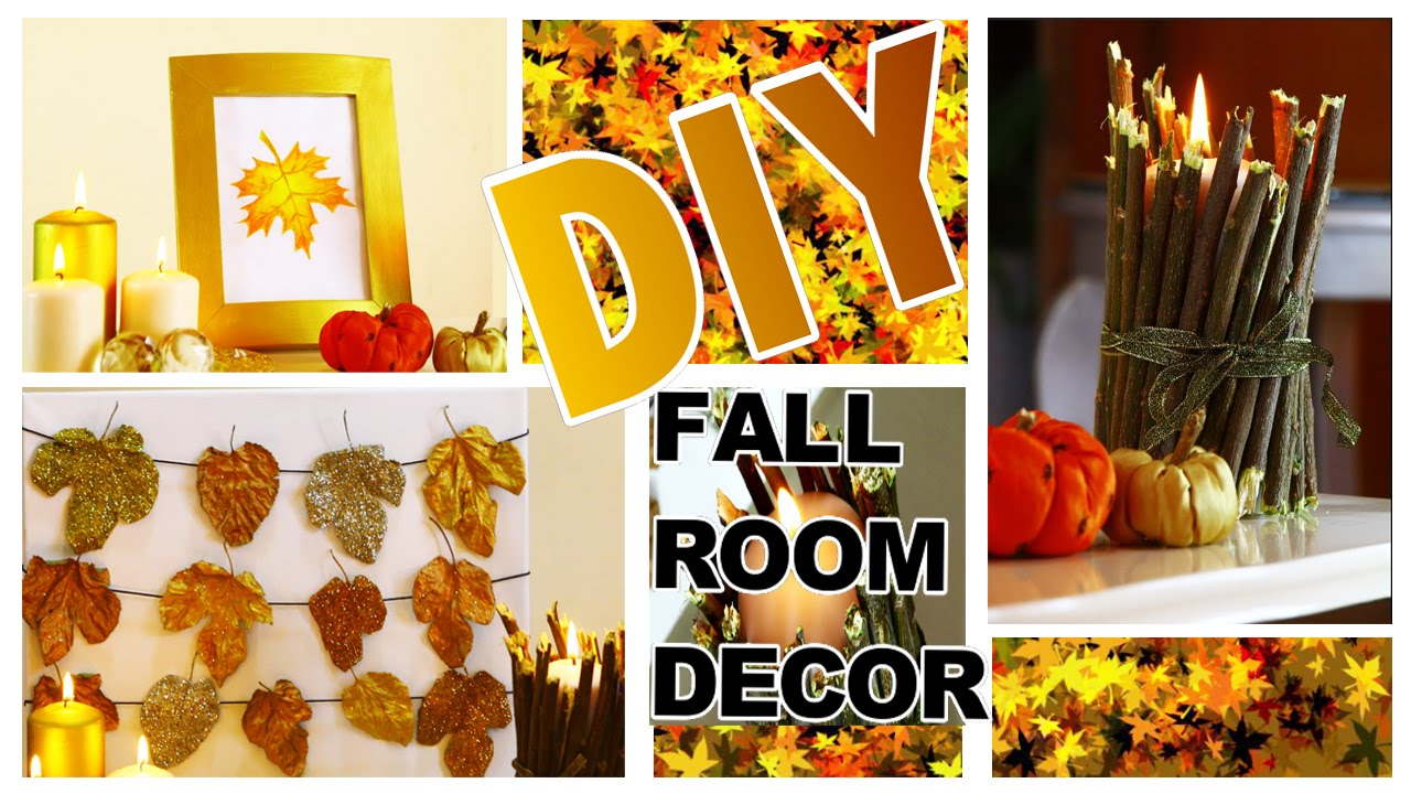 Diy autumn fall room decor 3 easy diy fall home for Homemade fall decorations for home