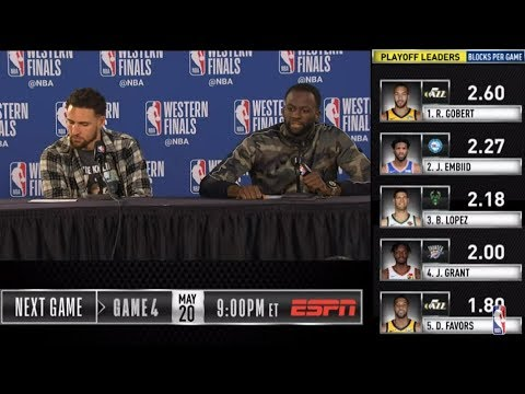 Klay Thompson & Draymond Green Press Conference | Western Conference Finals Game 3