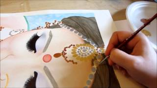 Beautiful Sikh Bride Painting by Toronto Portrait Artist Malinda Prudhomme
