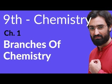 Branches of Chemistry - Chemistry Chapter 1 Fundamentals of Chemistry - 9th Class
