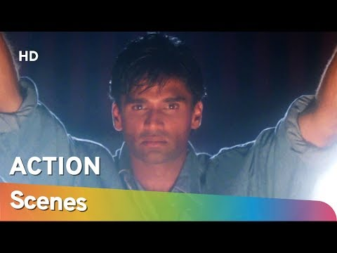 90's Blockbuster Action movie Raghuveer Scenes | Suniel Shetty | Amrish Puri | Shilpa Shirodkar