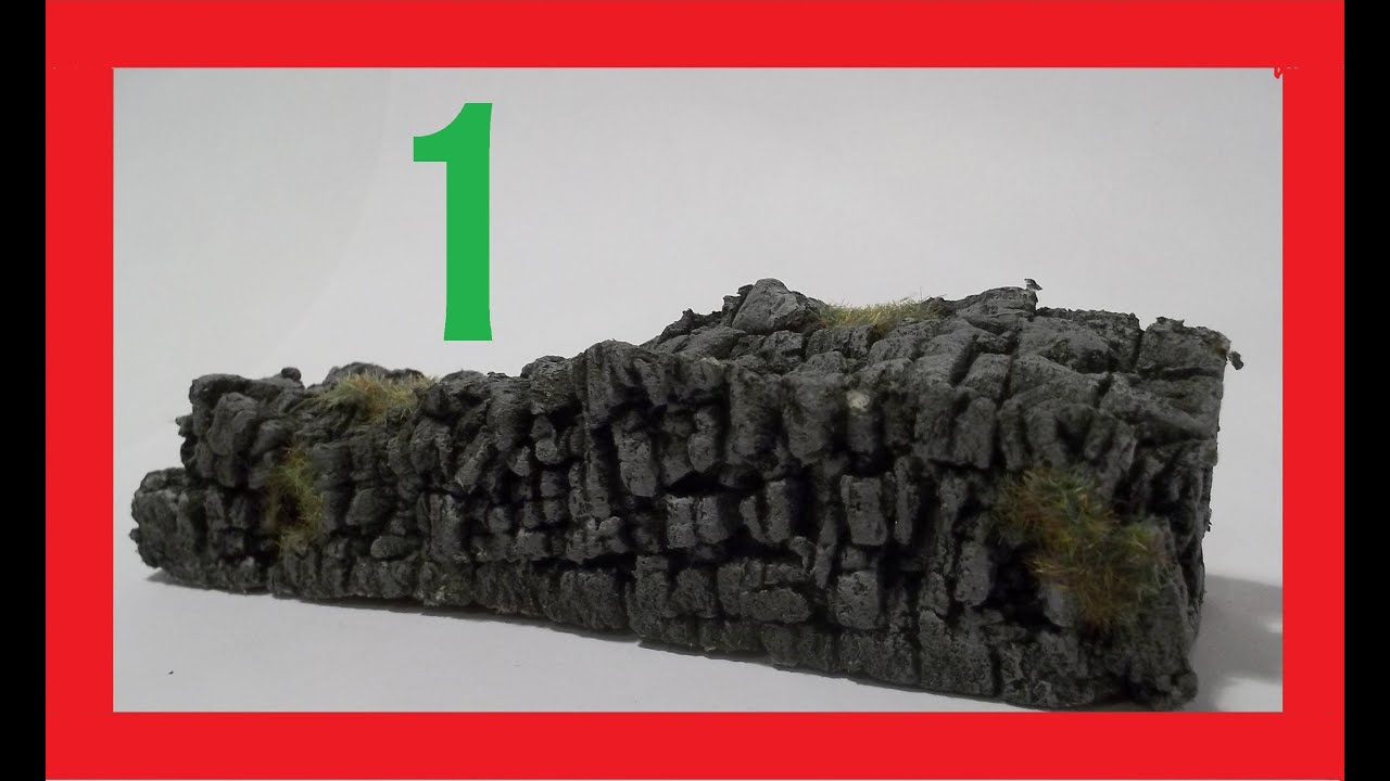 How To Make Miniature Stone Walls Easy Part 1 Youtube