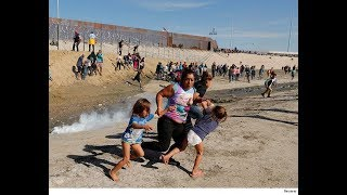 Tear Gas Thrown at Migrants, Kids as U.S  Closes CA Mexico Border Crossing Subscribe My Channel Youtube Please.