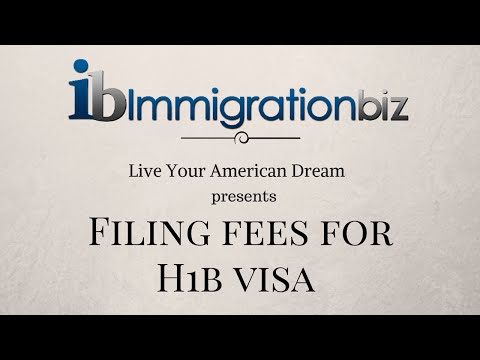 H1B work visa to the US | Filing USCIS Fees