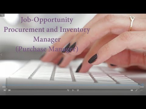 Procurement And Inventory Manager Purchase Manager