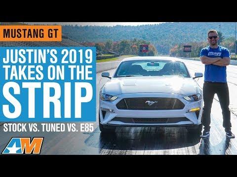 Justin's 2019 Mustang Takes on The Drag Strip - Stock vs Tuned vs E85