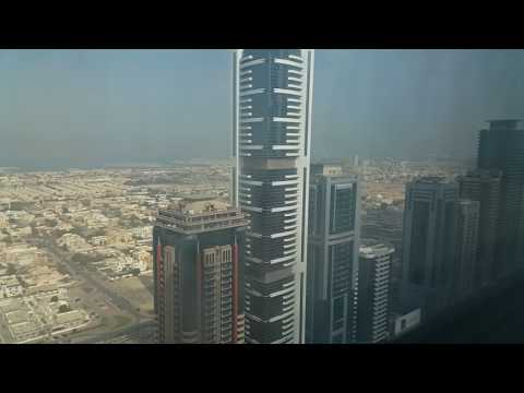 Fantastic  view from Emirates Grand Hotel Sheikh Zayed Road Dubai