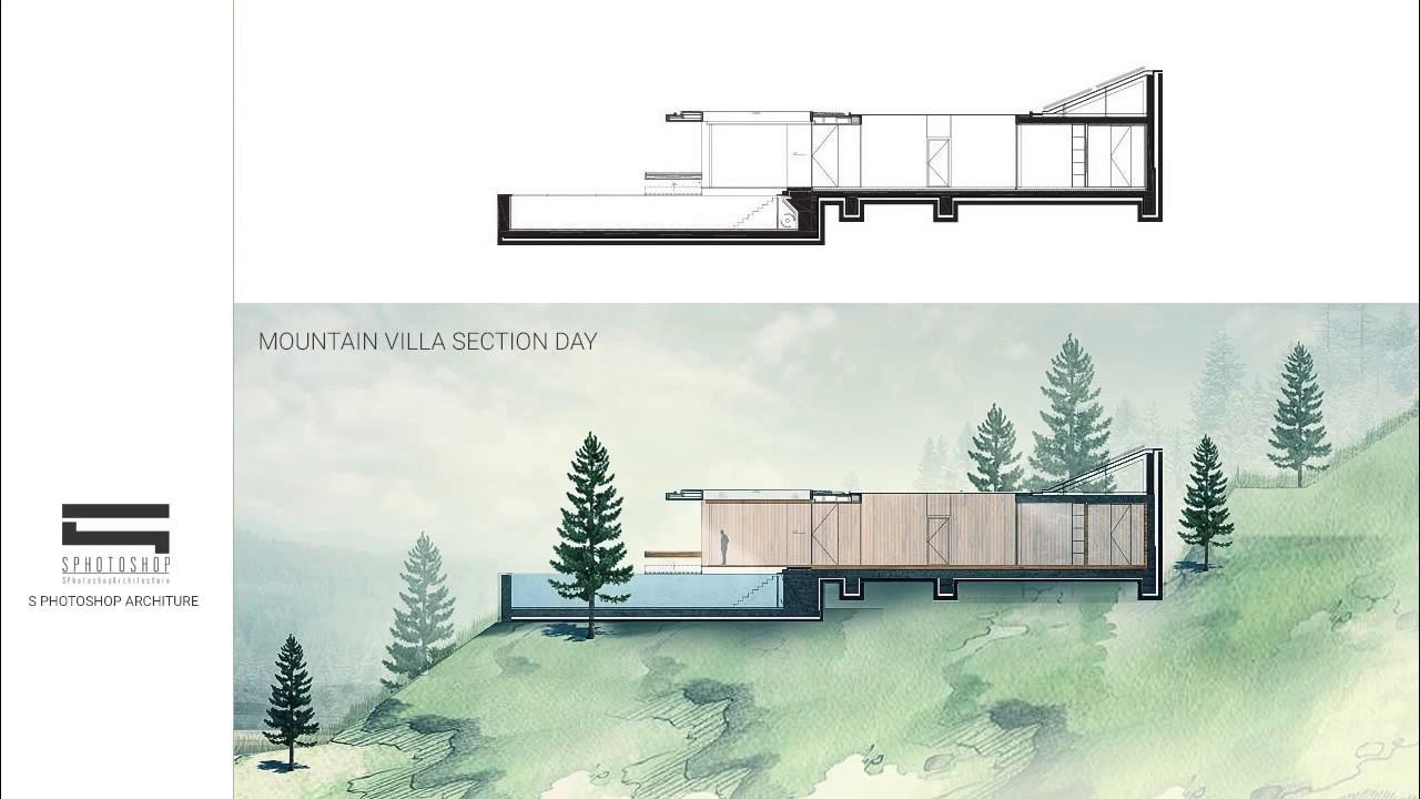 Villa Section Photoshop Architecture YouTube