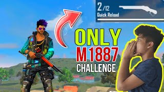 FREE FIRE || I DID ONLY M1887 CHALLENGE IN RANK MATCH GONE WRONG LIVE REACTION|| TWOSIDEGAMERS
