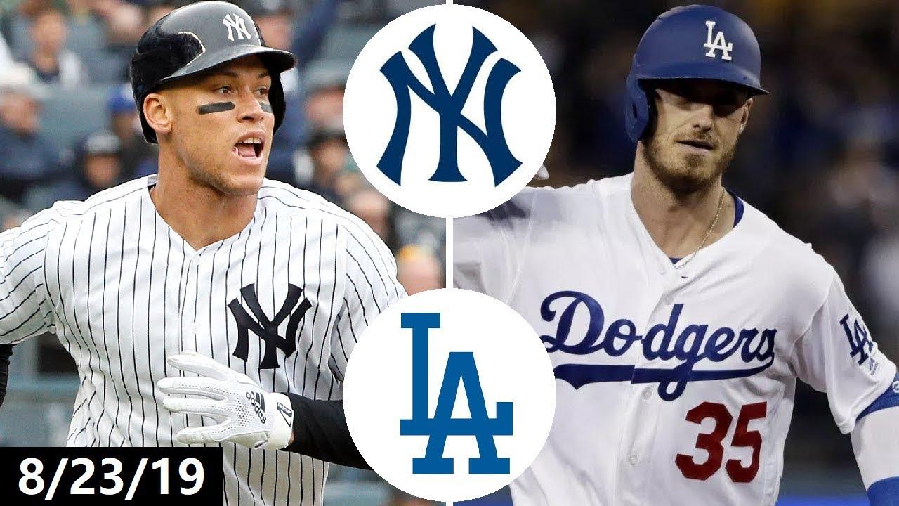 Download New York Yankees vs Los Angeles Dodgers Highlights   August 23, 2019 (2019 MLB Season)