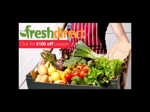 FreshDirect Grocery $50 OFF $125+ New Customers Only Coupon Code Discount 2017 freshdirect.com Promo