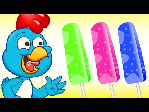 Pollitos Pio comiendo paleta de helado de colores - Pio Pio - Pollito - Pio