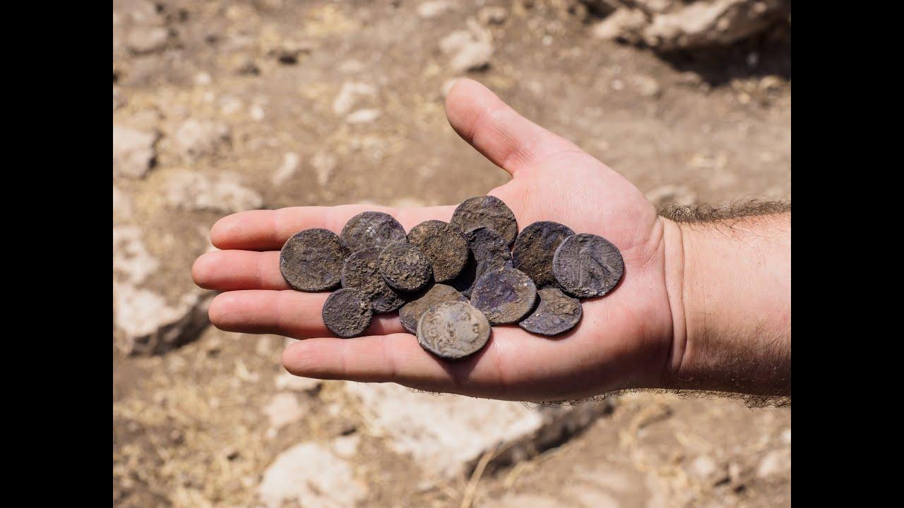 מטמון מטבעות כסף נדיר מהתקופה החשמונאית