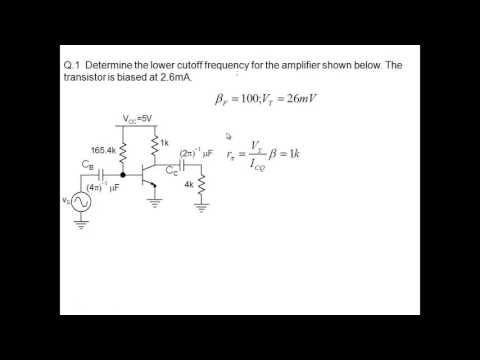 BJT Amplifier lower cutoff frequency   part 2