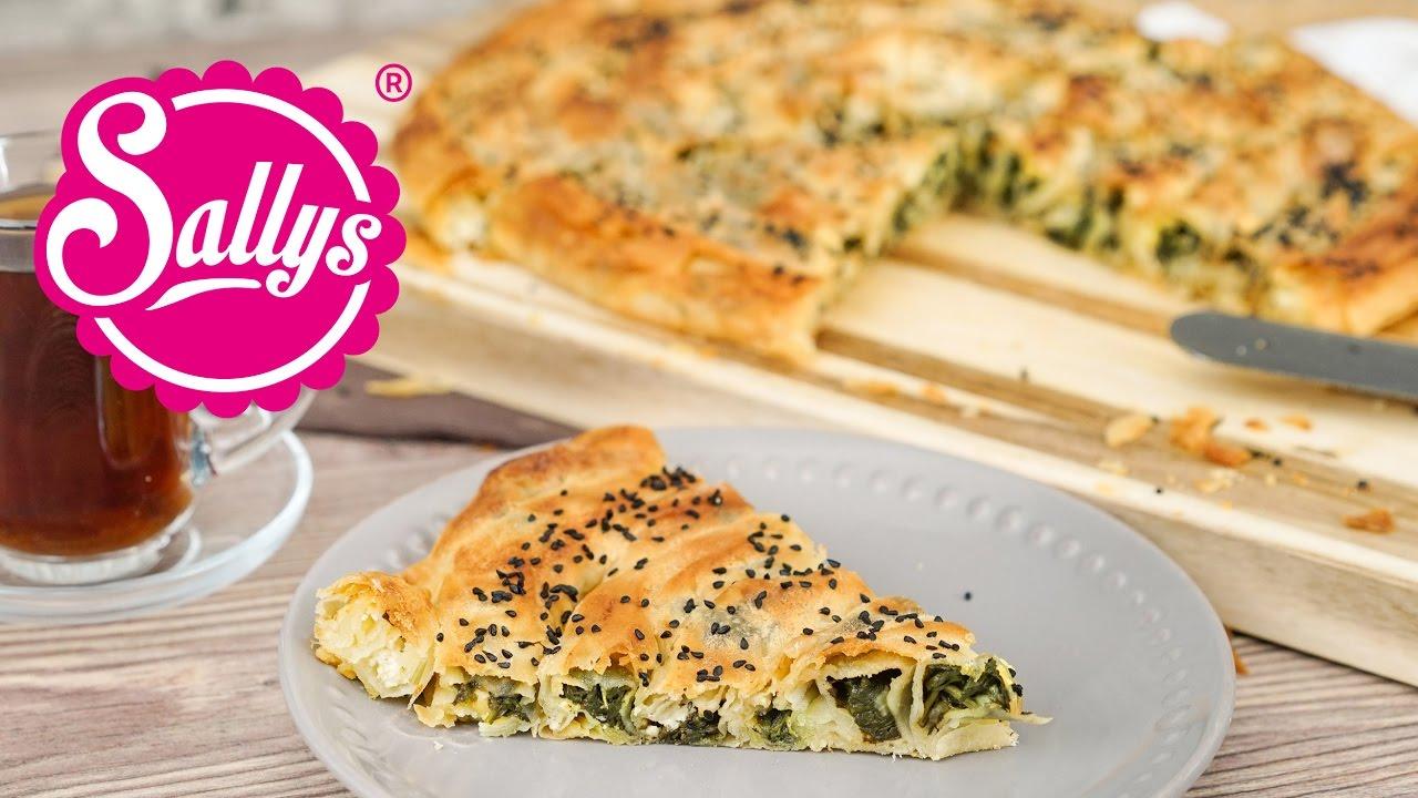 Türkisches Börek mit selbstgemachtem Yufkateig / mit Spinatfüllung / Sallys  Welt