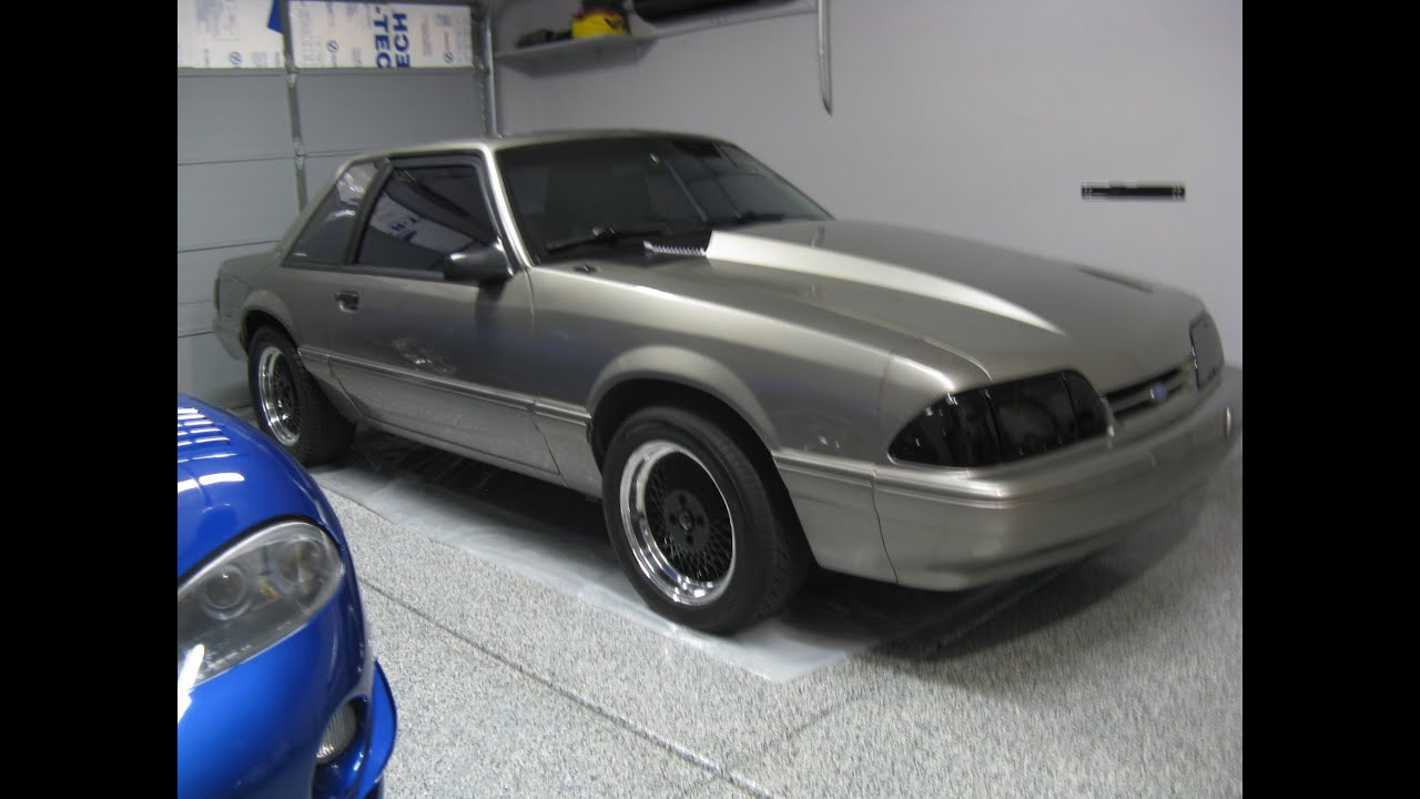 1987 mustang notchback coupe start up walk around