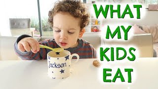 WHAT MY KIDS EAT IN A DAY  |  EMILY NORRIS AD