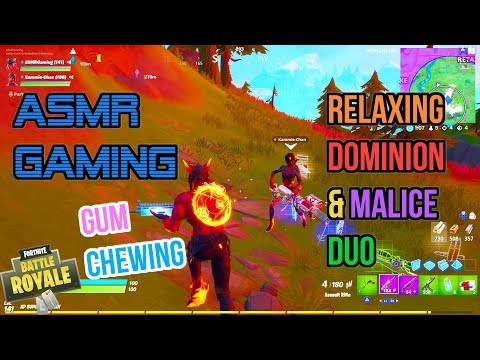 ASMR Gaming   Fortnite Relaxing Dominion & Malice Skin Duo Gum Chewing 🎮🎧Controller Sounds😴💤