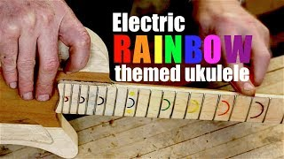 Electric Ukulele with Rainbows - and it ROCKS!