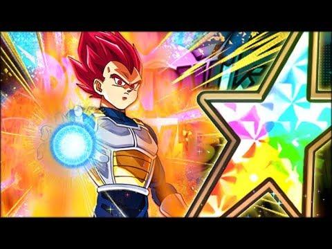 GOD VEGETA IS IN DOKKAN! 100% RAINBOW STAR SUPER SAIYAN GOD VEGETA SHOWCASE! (DBZ: Dokkan Battle)