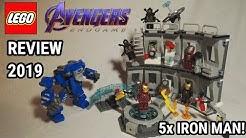 5x neue IRON MAN | LEGO Avengers Endgame Iron Mans Werkstatt Review | Set 76125