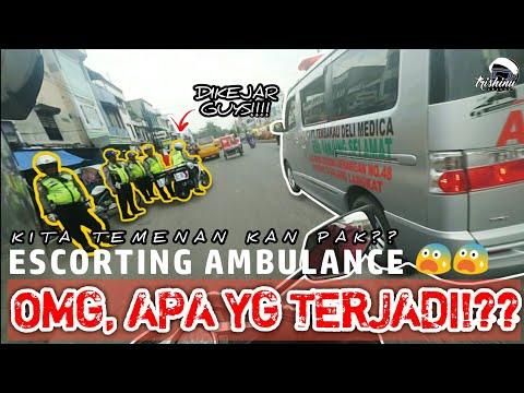 DIKEJAR Saat Razia!??   Escorting Ambulance #37