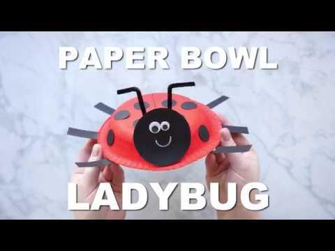 How to Make a Paper Bowl Ladybug Craft