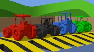 Tractor and other stories about children's agricultural vehicles - Video for Kids - Traktory Bajki