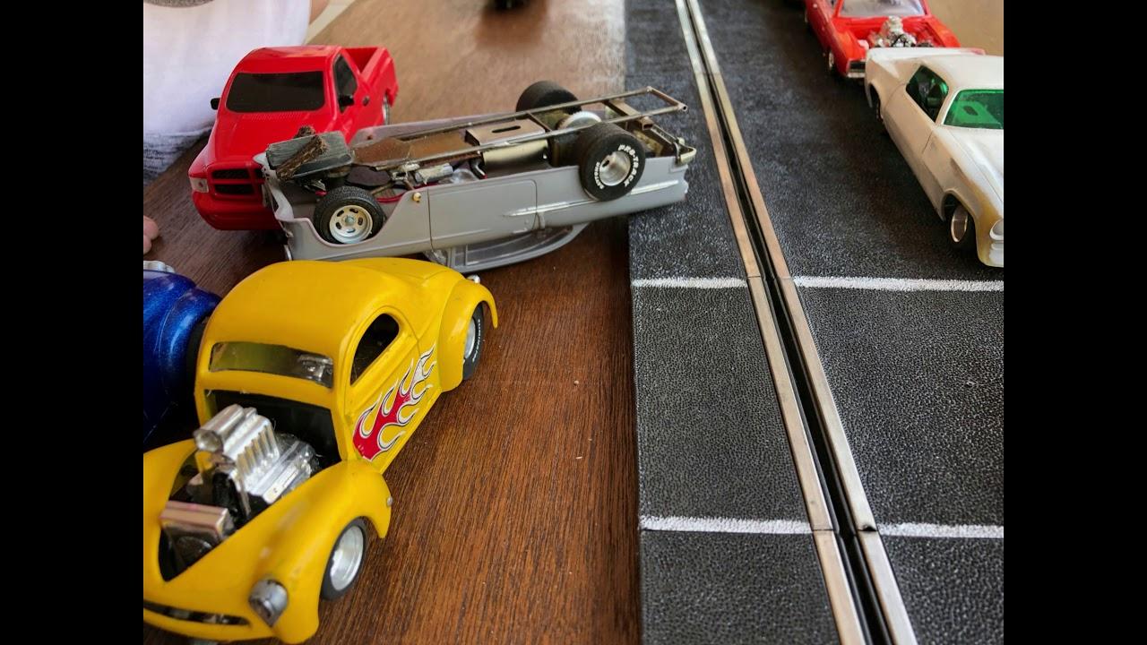 Drag Slot Car Home Drag Strip Fails in 1/32 scale Slo-Mo