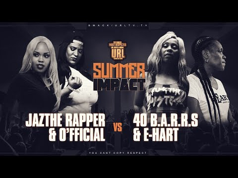 Jaz The Rapper & O'fficial Vs 40 & E-hart Rap Battle  Urltv