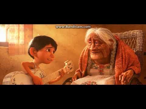 Recuérdame - Coco (HD) Miguel le canta a Coco