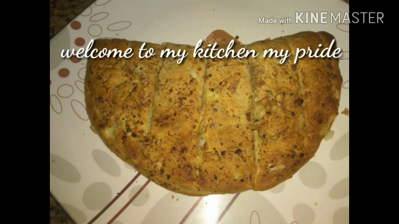 GARLIC bread without yeast just like domino's- try this ...
