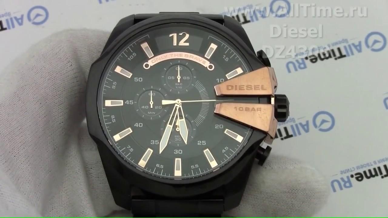 5ecc27bd Обзор. Мужские наручные часы Diesel DZ4309 с хронографом - YouTube