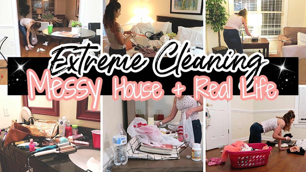 NEW HOUSE!! CLEAN WITH ME!   EXTREME CLEANING MOTIVATION!   MESSY HOUSE TRANSFORMATION